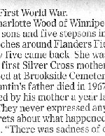 Newspaper Clipping – Winnipeg Free Press  Submitted with permission of Albert Cantin  By Operation Picture Me