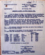 Document – This letter sent by the CO of 432 Sqdn to the Air Ministry gives most of the details of the aircraft and crew.  The pilot, J. A. Allen, was a student of Lawrence Park Collegiate Institute in Toronto before the war.  He was one of the 40 students from the school who were killed during their service.  Information is from Crawford's pers file in Ottawa.
