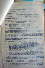 Document – The two pages of this report from Search Officer Prior shows the great pains that the RAF and RCAF took to identify their missing aircrew.  In this case, Cobbett was found but the other bodies identified by the Americans as his crew mates belonged to another aircraft.  (See page 2)
