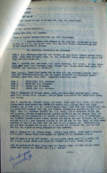 Document – This report by F/Lt Sailern was made after exhuming 16 bodies from the town cemetery in Koethen, Germany.  The first six were another crew, but the rest are from Doull's crew.  Notice the comment on Doull's name.  There was another Doull killed on the 1/2 Jan 44 in raids on Berlin and the body was recorded as being elsewhere.  This officer queries if there could be two Doull's not one.