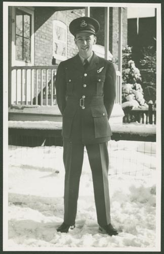 Photo of Hedley Forbes Doull – Flying Officer Hedley Doull courtesy McGill University archives