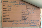 Document – This is the German Death Card taken from their documents and placed in Doull's pers file in Ottawa.  This was one of the ways the Germans were able to record where and when the dead airman were buried.  It contains all the details that local officials were able to glean from the crash site.  Any personal effects were placed in envelopes and put into storage.  At the end of the war, our Missing Research and Enquiry Units used these records to track down the location of missing airmen.