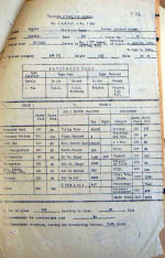 Document – Report on Dupuis from #9 PAED.  He was there most of the summer of 1943 and was 48th in a class of 110.    Source: Library & Archives Canada RG 24 via R. Whitehouse