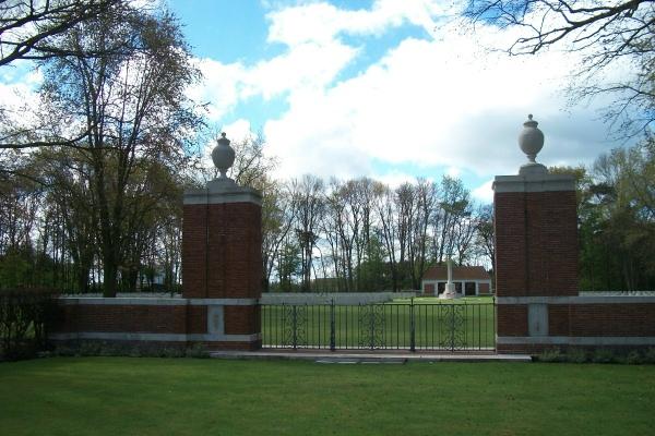 Entrance – Adegem Canadian War Cemetery - April 2017 … photo courtesy of Marg Liessens