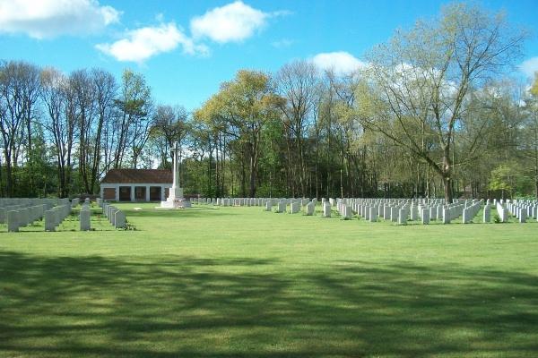 Cemetery – Adegem Canadian War Cemetery - April 2017 … photo courtesy of Marg Liessens
