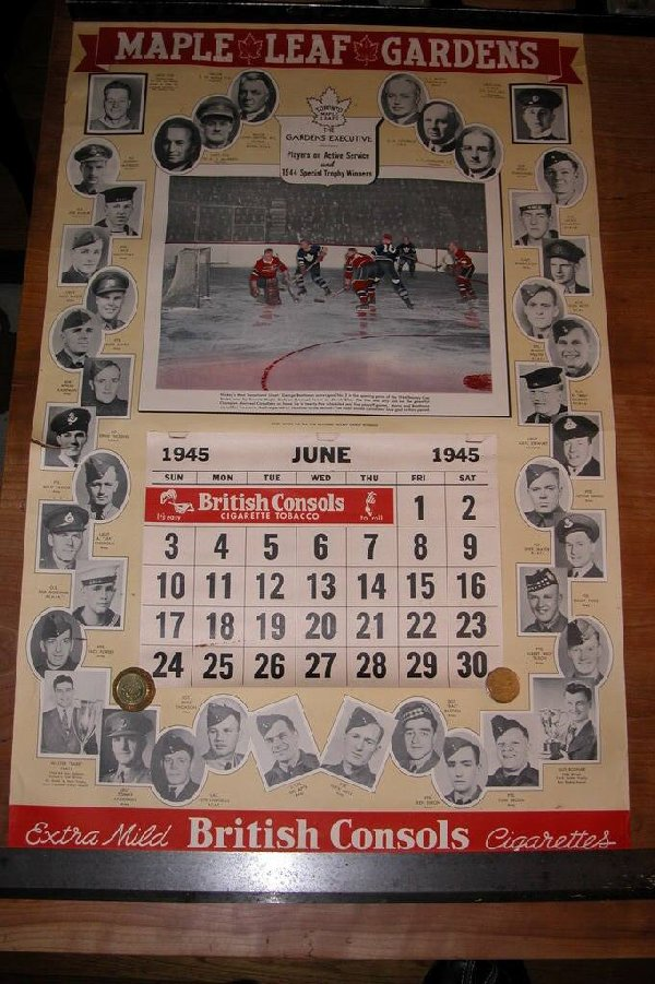 1945 Toronto Maple Leafs Calendar
