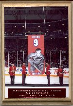 Remembering Albert Tilson – Raising of the banner, retirement of Red's Oshawa General's Jersey during Rememberance / Red Tilson Celebrations at the General Motors Centre, November 12, 2006