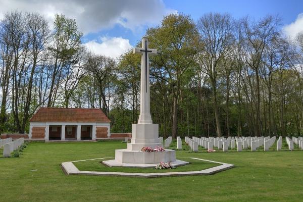 Cross of Sacrifice – Adegem Canadian War Cemetery - April 2017 … photo courtesy of Marg Liessens