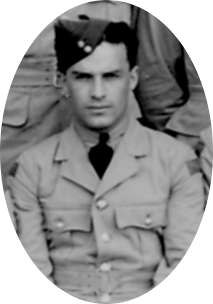 Photo of Peter John LeBoldus – Photo extracted from graduation photograph of !st Observer Course August 16th, 1940.  He and 21 other classmates out of a class of 39 were dead by 21 September 1944.