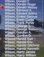 Memorial – Sergeant Donald Wesley Wilson is also commemorated on the Bomber Command Memorial Wall in Nanton, AB … photo courtesy of Marg Liessens