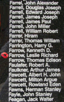 Memorial – Flight Lieutenant Navigator Leslie Richard Farrow is also commemorated on the Bomber Command Memorial Wall in Nanton, AB … photo courtesy of Marg Liessens