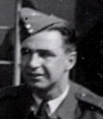 Photo of Joseph Ronald Beasley – Image taken from the photo album of Flight Lieutenant Walter Neil Dove a Spitfire pilot with RCAF No. 403 Squadron. This picture was taken at No. 61 O.T.U. in Rednal, England in September 1944.
