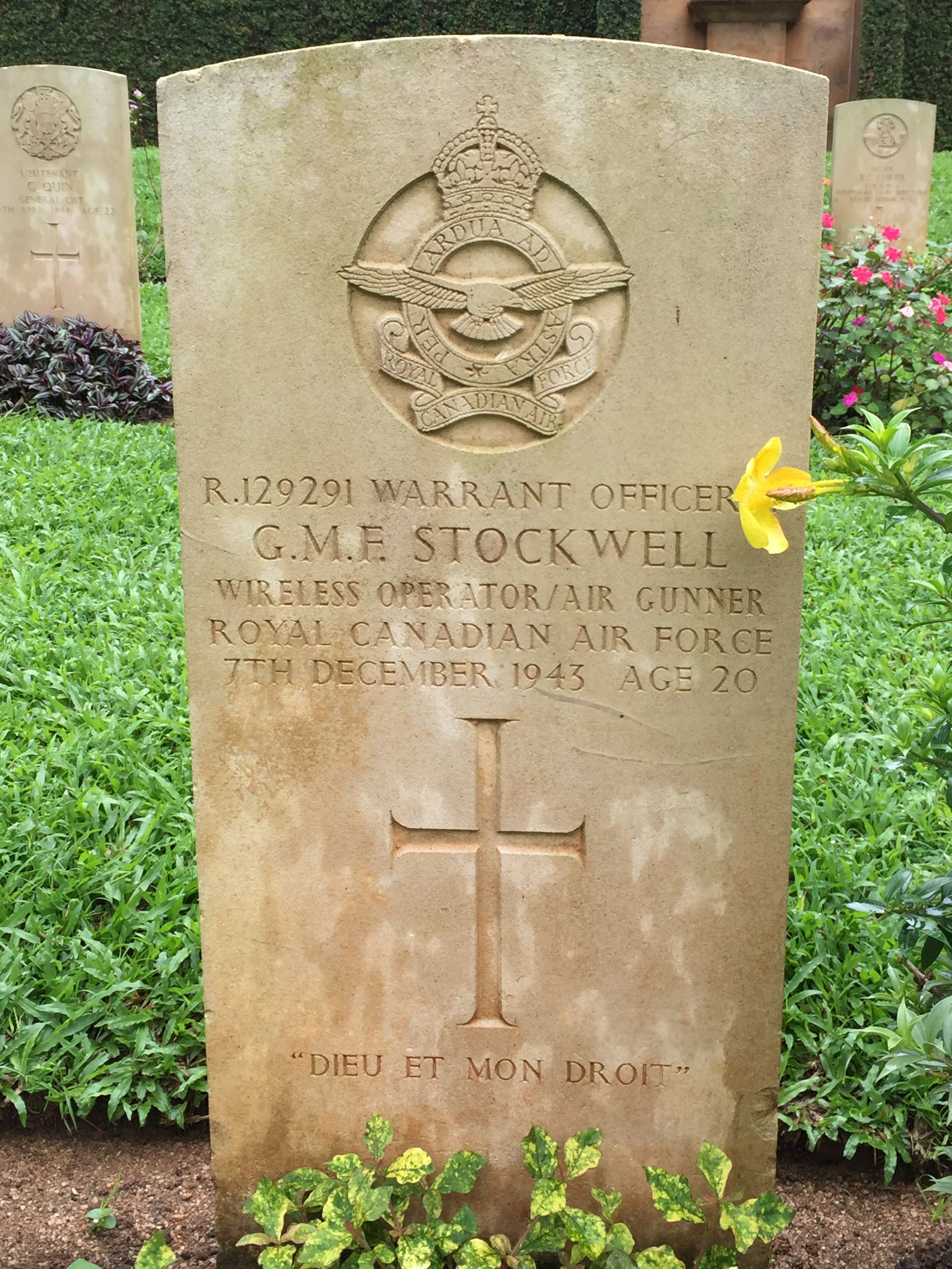 Grave Marker – Picture taken at Kandy War Cemetery.