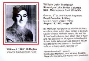 Photo of WILLIAM JOHN MCMULLAN – Submitted for the project, Operation Picture Me