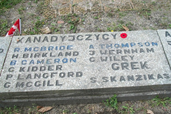 Memorial – The Canadians - Stalag Luft III, Zagan, Poland … photo courtesy of Marg Liessens