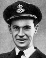 Photo of Donald James Elliott – Elliott, Donald James - Flying Officer. Born 11th October, 1921, at Sprioghill, N.S. Educated at Springhill High School and Amherst Academy.  Entered the service of the Bank 23rd September, 1938. Served at branches in the Maritime Provinces. Enlisted 7th September, 1940, from Charlottetown,  P.E.I., in R.C.A.F. Sergeant in December, 1942; Pilot Officer in May, 1943; Flying Officer later in 1943.  Overseas in May, 1943. Served with 425 (Alouette) Squadron, R.C.A.F., operating over North Africa and Sicily in summer of 1943. Made over 30 flights as Navigator of Squadron Leader's plane.  Reported killed in air operations on or about 3rd January, 1944, when his plane failed to return from a raid on Berlin. Buried in Wahrenholz Cemetery, County of Gifhorn, in mid-Germany. From a memorial booklet prepared by the Canadian Bank of Commerce.