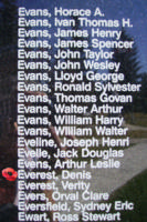 Memorial – Sergeant Denis Everest is also commemorated on the Bomber Command Memorial Wall in Nanton, AB … photo courtesy of Marg Liessens