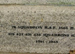 Inscription – Bottom of the Memorial. The Memorial is located in Dalton-on-Tees, Yorkshire.