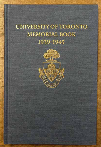Memorial Book – University of Toronto Memorial Book, Second World War 1939-1945. Published by the Soldiers' Tower Committee, 1993. Entry on page 42 reads: P/O James Francis McCORMICK,