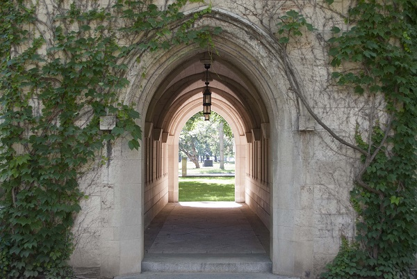 St. Michael's College Memorial – The memorial slype between More and Fisher Houses on the University of Toronto campus commemorates the men of St. Michael's College (University of Toronto) and St. Michael's College School  (a private Catholic high school) who died in the First and Second World Wars and the Korean conflict.