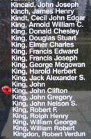 Memorial – Flight Sergeant John Clifton King is also commemorated on the Bomber Command Memorial Wall in Nanton, AB … photo courtesy of Marg Liessens