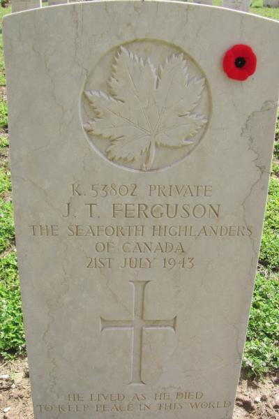 Grave Marker – Grave marker - Agira Canadian War Cemetery - 2013
