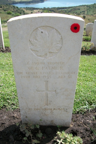 Grave Marker – Grave marker - Agira Canadian War Cemetery - 2013 Photo courtesy of Marg Liessens