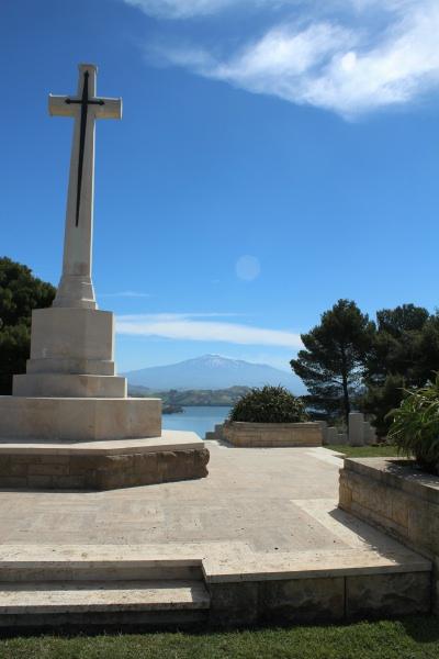 Cemetery – Cross of Sacrifice - Agira Canadian War Cemetery - 2013