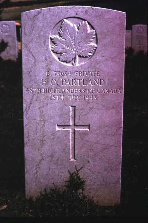 Headstone of Frank Owen Partland