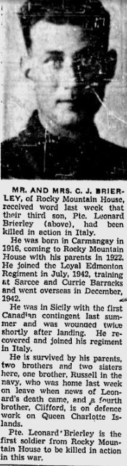 Newspaper Clipping – From the Calgary Herald. Submitted for the project, Operation: PIcture Me