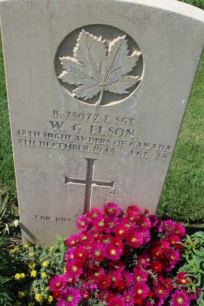 Grave Marker – Grave marker - Moro River Canadian War Cemetery - May 2013