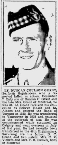 Obituary – Obituary - DUNCAN COULSON GRANT
