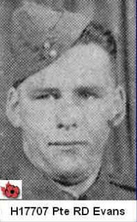 Photo of ROBERT DANIEL EVANS – In memory of those who served in Hong Kong during World War 11 and did not come home. Submitted with permission on behalf of the Hong Kong Veterans Commemorative Association by Operation: Picture Me.