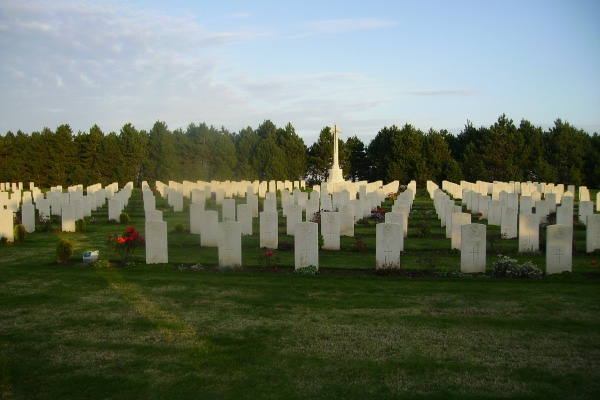 Cemetery – Calais Canadian War Cemetery … photo courtesy of Marg Liessens