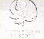Gravemarker – This photo of Rfn Scott's gravemarker was taken by Padre Craig Cameron of The QOR of C in june 1997.