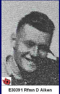 Photo of Deighton Aitken – In memory of those who served in Hong Kong during World War 11 and did not come home. Submitted with permission on behalf of the Hong Kong Veterans Commemorative Association by Operation: Picture Me.