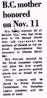 Newspaper clipping – Newspaper clipping from the Lanley Advance.