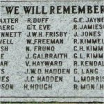 Memorial – J. C. Kimmel is commemorated on this memorial tablet in Fort Langley, British Columbia.