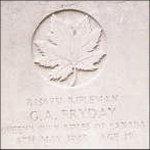 Grave Marker – This photo of Rfn Fryday's gravemarker was taken in June 2003.