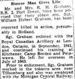 Newspaper Clipping – Source:  Hamilton Spectator, March 1, 1945