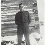 Photo of William McCooeye – in uniform at his home.