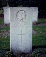 Grave marker for J.A. Maclaren