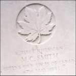 Grave Marker – This photo of Rfn Smith's gravemarker was taken in June 2003.