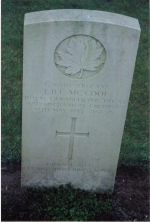 Grave Marker – Grave of Sgt. C-36540 Lorne B.F. McCool who served with the R.C.E.M.E. He died of wounds on May 17th 1945 at the age of 25.