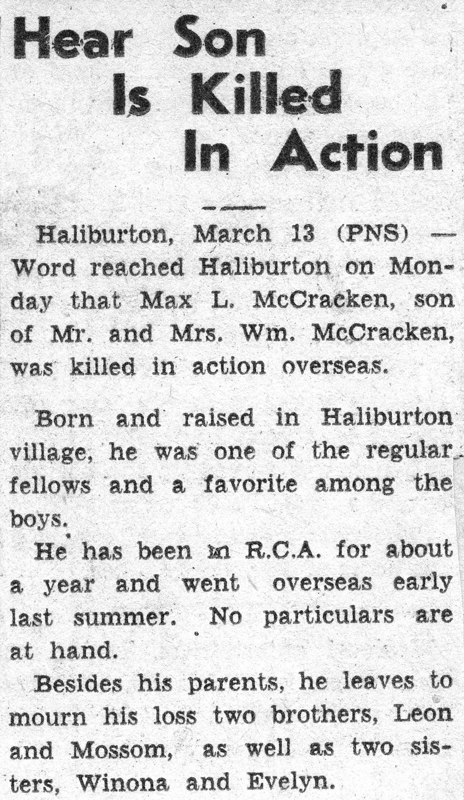 Newspaper Clipping – Submitted for the project, Operation:Picture Me