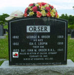 Monument – Family marker in Greenwood Cementery in Hartland, New Brunswick.
