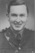 Photo of Amos Ragen – Lieutenant Amos Ragen joined the Queen's Own Rifles as a replacement officer on 19 Feb 45. He was KIA just one week later at Mooshof,  Germany leading his platoon of Dog Company.