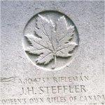 Grave Marker – This photo of Rfn Steffler's gravemarker was taken in June 2003.