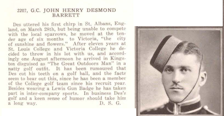 Photo of JOHN HENRY DESMOND BARRETT – Submitted for the project, Operation Picture Me