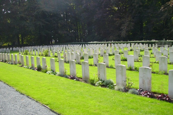 Cemetery – View of Plot 3 … Schoonselhof Cemetery … photo courtesy of Marg Liessens
